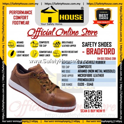 HOUSE BRADFORD SAFETY SHOES C/W COMPOSITE TOE CAP & ARAMID MID SOLE